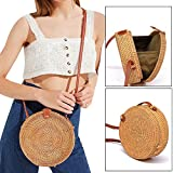 Best Disney Designer Diaper Bags - Small Beach Crossbody Bag Bohemian Rattan Handmade Round Review
