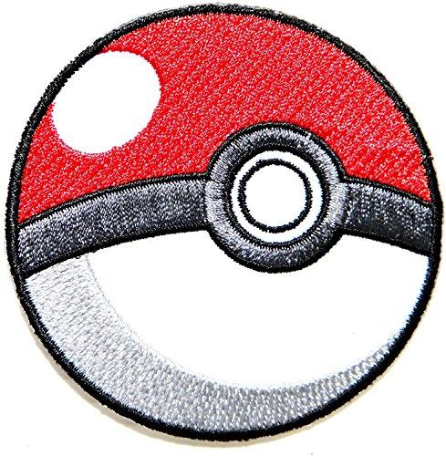 Kostüm Girl Pokemon - Pokeball Pokemon Cartoon game Logo Girl Kid Baby Jacke T-Shirt Patch Sew Iron on gesticktes Symbol Badge Reinigungstuch sich, Kostüm von prinya Shop