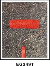 """Generic 7"""" Classical Embossed Painting Roller W/ Plastic Handle For Wall Decoration"""