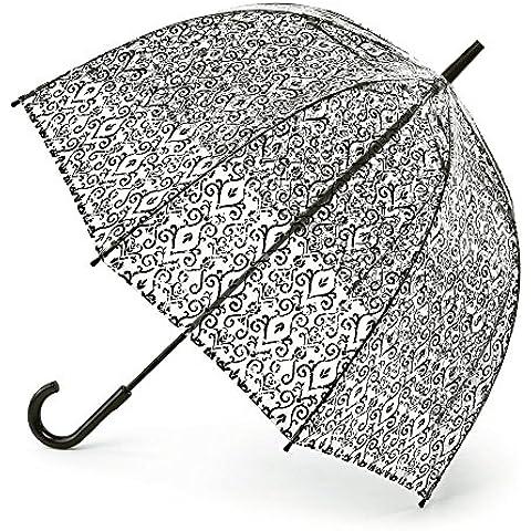 Fulton Birdcage - 2 damasco cúpula paraguas negro