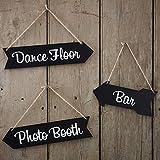 Ginger Ray Mariage Tableau noir flèche Signs?Piste de danse, bar, Photo Booth?Vintage Affair...
