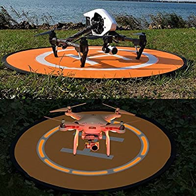 Drone Landing Mat – Meersee 75cm Waterproof Portable Landing Pad for RC Drones Helicopter DJI Mavic Pro Phantom 3 Phantom 4 Inspire 1 and other Quadcopters