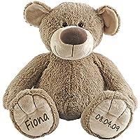 Stofftier Teddy Bär Geschenk mit Namen und Geburtsdatum personalisiert preisvergleich bei kleinkindspielzeugpreise.eu
