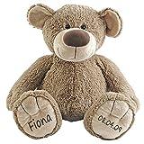 Stofftier Teddy Bär Geschenk mit Namen und Geburtsdatum personalisiert 30cm