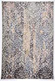 """A2Z RUG Modern (Multi, Blue, Ivory 150 x 225 cm - 4'9"""" x 7'4"""" ft) Deco Treasure Colletion Area Rug, Perfect for Living room - dining room - Bedroom Rugs & Carpets"""