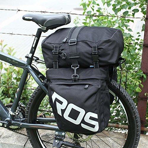 Lixada 3 in 1 Multifunction 30L Road MTB Mountain Bike Bag Bicycle Pannier Rear Seat Trunk Bag (Bag Pannier)
