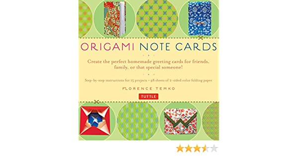 Origami Note Cards Amazon Co Uk Florence Temko