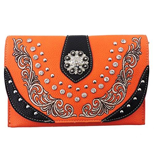 american-bling-clutch-crossbody-shoulder-handbag-built-in-wallet-orange-black