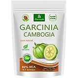 Garcinia Cambogia 90 capsules végétariennes (extrait 4:1, 60% HCA) poudre de fruit avec du calcium, gros bloqueur, fat blocker - garantie sans agents de libération et stéarates (1x90)