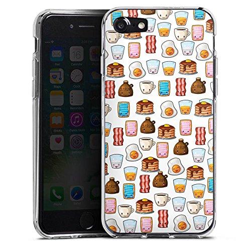 Apple iPhone X Silikon Hülle Case Schutzhülle Cute Breakfast Frühstück Kawaii Manga Style Silikon Case transparent