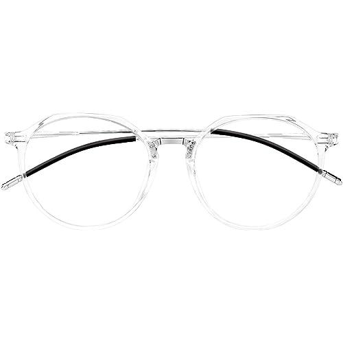 HBselect Set da Occhiali Luce Blu Ridurre l'Affaticamento Occhiali Anti Luce Blu Leggeri e Antiscivoli Occhiali Filtro Luce Blu Anti UV Occhiali da Vista Unisex alla Moda