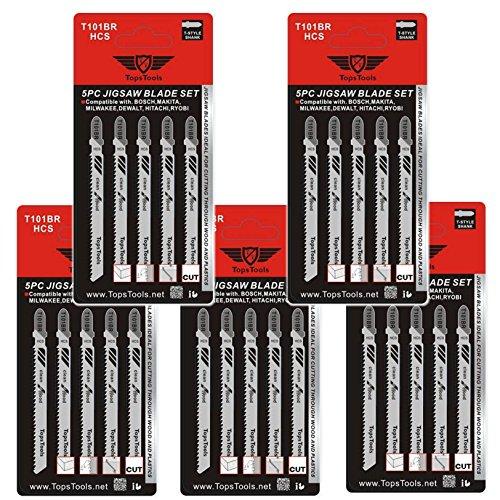 Preisvergleich Produktbild 25x topstools T101BR Stichsägeblätter für Bosch, Dewalt, Makita, Milwaukee und viele mehr