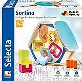 Selecta 62066 Sortino, Sortierbox aus Holz, Mehrfarbig