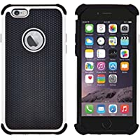 Funda iPhone 6, Funda iPhone 6S, G-Shield Carcasa Doble Capa Extremo Protección [Anti-Arañazos] [Anti-Choque] [Muy Resistente] Híbrida a Prueba de Golpes Case Cover Para Apple iPhone 6 / 6S - Blanco