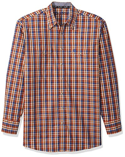 Wrangler herren Men's George Strait Big and Tall Two Pocket Shirt  Button Down Hemd  -  mehrfarbig -  (And Big Button-down-hemd Tall)
