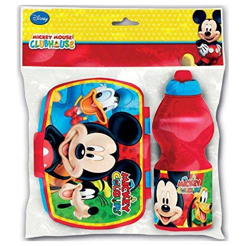Mickey Mouse - Set Botella Sport y sandwichera Rectangular (STOR 59076)