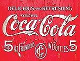 Coca Cola Nostalgie Metall blechschild Wandschild Neuheit Geschenk Werbung