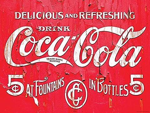 Coca Cola nostalgique plaque murale en métal fantaisie Cadeau publicitaire
