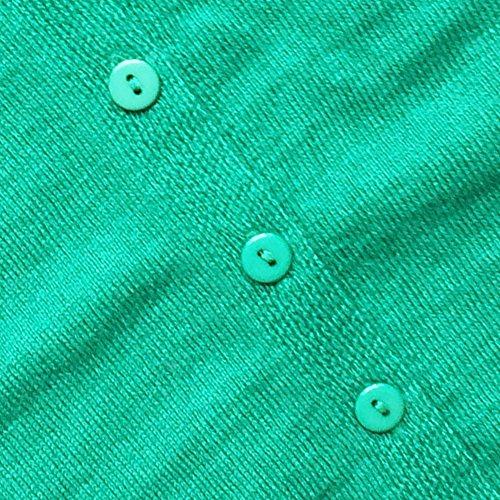 HIDOUYAL -  Cardigan  - Basic - Maniche lunghe  - Donna Bunt Grün
