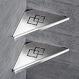 Badezimmer Regale Duschwanne Edelstahl 304 Edelstahl 2-tier Pinsel Nickel zeitgenössische Dreieck Rack Wand Küche Badezimmer WF-18062-2
