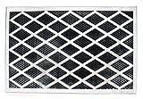 Fußmatte mit Edelstahlrahmen, Gummimatte mit Noppen, Rahmen abnehmbar, Größe ca. 58 x 38 x 1 cm