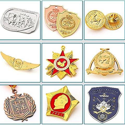 Nuovo metallo personalizzato perno del distintivo di trasporto distintivo militare all'ingrosso d'ottone metallo pin uniforme spilla distintivo di alta qualità - Personalizzati Pin Badge
