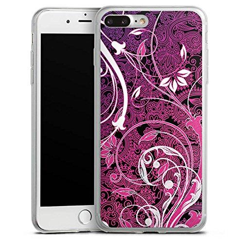 Apple iPhone 8 Slim Case Silikon Hülle Schutzhülle Floral Ornament Blumen Silikon Slim Case transparent