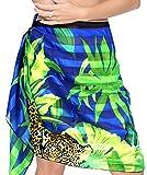 La Leela leichten Chiffon Tiger Strand Badeanzug Rock Sarong blau wickeln