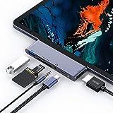 Rayrow Hub USB C, Hub 6 in 1 Tipo C con HDMI 4K, Porta di Ricarica PD, Porta USB 3.0, Lettore di schede SD/TF, Jack Audio da