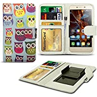N4U Online® Various Patterns Clip On Series PU Leather Wallet Book Case For alcatel Idol 3C