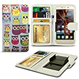 N4U Online® Owl Patterned Clip On Series PU Leather Wallet