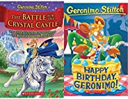 GERONIMO STILTON AND THE KINGDOM OF FANTASY #13:THE BATTLE FOR CRYSTAL CASTLE + Happy Birthday, Geronimo! (Ger