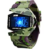 SKMEI impermeabile militare orologio sportivo digitale a LED per bambini