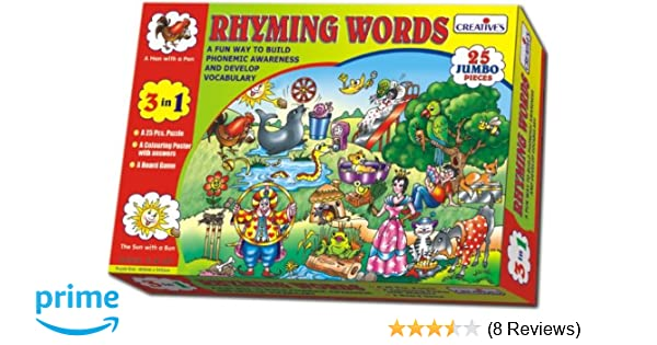 Buy Creative Educational Aids 0740 Rhyming Words- Reading Puzzles ...