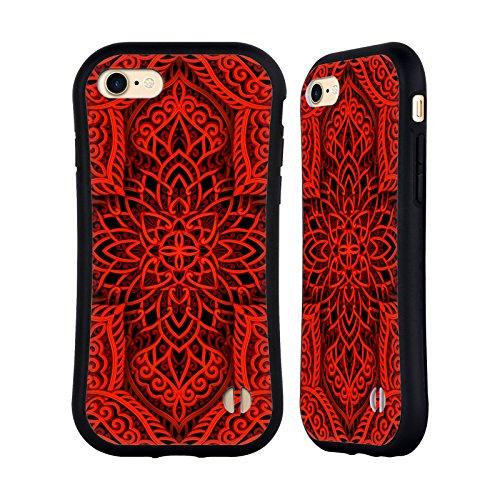 Ufficiale Giulio Rossi Colori Collezione Mandala Case Ibrida per Apple iPhone 6 Plus / 6s Plus Rosso