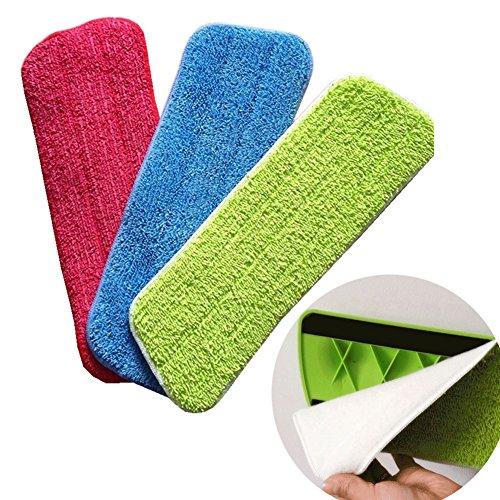 mop Pad, Favolook lavabile spray Reveal mop pastiglie panno in microfibra di ricambio refill pavimento panno in microfibra per pulizia spray mop, Green, Taglia libera