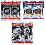 Astronaut Freeze Dried Ice Cream & Fruit Pack - Neapolitan Ice Cream Sandwich, Vanilla Ice Cream Sandwich & Stawberries (6 Packs)
