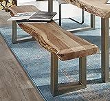 SAM® Sitzbank Madras aus Akazien Holz, Bank ohne Rückenlehne, indisches Akazienholz, 195 cm Sitzfläche