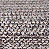 Bunten Loopback Knit Jersey Stoff–Blau Orange Elfenbein Schwarz und Gold Lurex Boucle Effekt–Meterware