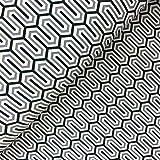 Glünz - Stoff - Softshell Zickzack grau - Meterware - 1 m
