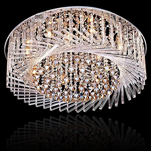 Pendelleuchten Kristall Licht Deckenleuchte, LED Wohnzimmer Lampe Schlafzimmer Licht Versprechen [Energieklasse A ++] (Color : Yellow Light, Size : 60cm) - 5 Lite Kristall Lampe