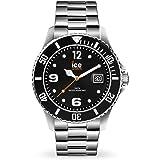 Ice-Watch - ICE steel Black silver - Montre noire avec bracelet en metal