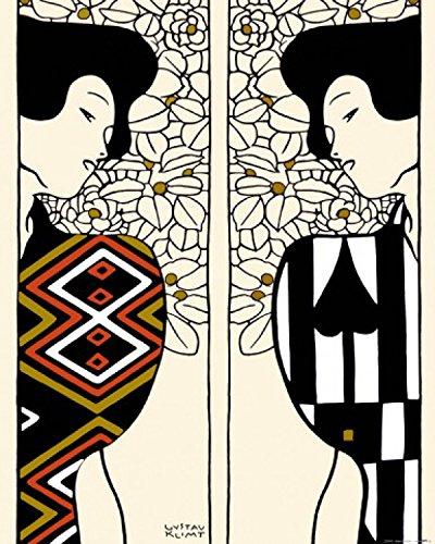 1art1 67651 Gustav Klimt - Zwei Silhouetten, 1912 Poster Kunstdruck 50 x 40 cm