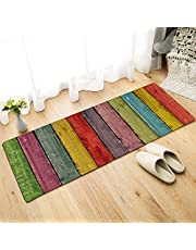 Status 3D Printed Runner Carpet Rug Anti Skid Backing for Home/Kitchen/Living Area/Office Entrance (57 X 37 cm, Multi) Pack of 1