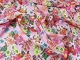 Spanisch Floral Print Chiffon Kleid Stoff