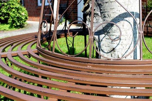 Dandibo Ambiente Baumbank aus Schmiedeeisen Braun - 2
