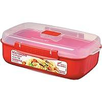 Abeba SI1114 Boîte à Micro-Ondes 1,25l en Rouge, Plastique, 45x35x25 cm