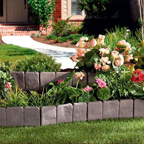 ProBache - Bordurette de jardin imitation pierre x10 pièces