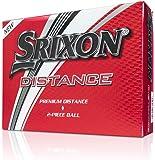 Srixon Distance 9Boules de Golf, Homme, Blanc, Taille Unique