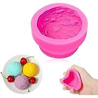 3D Moules en Forme de Boule de Crème Glacée en Silicone Moule à Pâtisserie de Biscuit Moule à Argile Bougie Savon Moule…